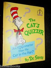 Cat's Quizzer (Beginner Series) by Dr Seuss - 1977-1st UK Ed, Cat in the Hat