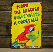 """""""Cocktail"""" Metal Tin Sign Vintage Beer Bar Wall Art Antique Home Room Wall Decor"""