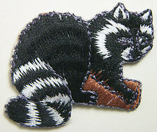 "2"" x 1½"" Embroidered Raccoon Racoon On Tree Branch Iron On Applique Patch"