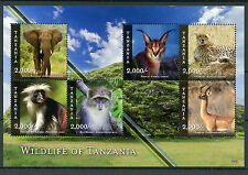 Tanzania 2015 MNH Wildlife of Tanzania 6v M/S Animals Elephants Cheetahs Stamps