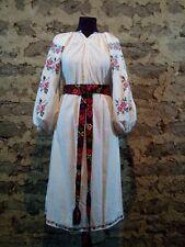 Ukrainian vintage(1930-1940y) embroidered dress, L-3XL, handiwork. Ukraine