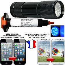 LOCA UV COLLE GLUE 5 ML + TORCHE UV GALAXY S3 S4 IPHONE 4 5 RÉPARATION VITRE LCD