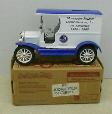 MONOGRAM RETAILER CREDIT GE CAPITAL 1912 FORD 1995 DIECAST ERTL BANK #F387