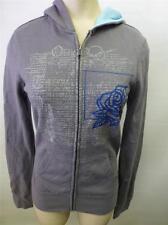 womens Hurley gray zip up  HOODIE SWEATSHIRT jacket sz XS skate surf board clean