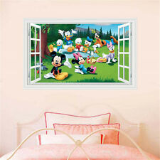 Removable Disney Mickey Minnie Mouse 3D Window Kid Wall Sticker Art Decal Decol