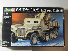 1/35 scale Revell SDKFZ 10/5 & 2cm Flak 38 contains all parts and instructions