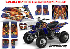 AMR RACING DEKOR GRAPHIC KIT ATV YAMAHA BANSHEE YFZ 350 FIRESTORM B