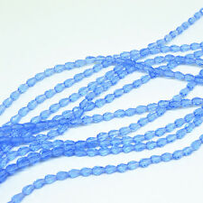 50pcs 5x3mm Light blue Faceted Teardrop crystal glass Jade Spacer beads