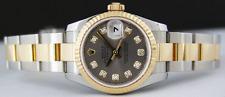 ROLEX - Ladies DateJust 18kt Gold & SS DIAMOND - 179173 SANT BLANC