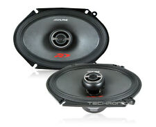 "ALPINE SPR-68 +2YR WRNTY 6X8"" 600W COAXIAL CAR STEREO TYPE R DOOR SPEAKERS SET"