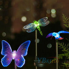 Butterfly Solar Power LED Light Outdoor Garden Lawn Pathway Landscape Lamp ct