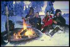 728091 Campfire After Dog sled Safari A4 Photo Print