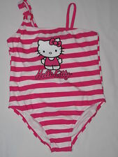 NWOT HELLO KITTY swimwear 2pc set GIRL size large (8/12?) strip pink, white