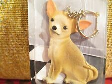 CHIHUAHUA TAN & WHITE ~ BEST FRIEND KEY CHAIN