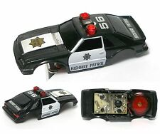 RARE TYCO Ford Mustang POLICE LIGHTS & SIREN! Not Released Slot Car BODY & Mech.