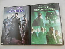 MATRIX 1999 & MATRIX REVOLUTIONS (WIDESCREEN EDITION) 2003 DVD'S LOT OF TWO (2)