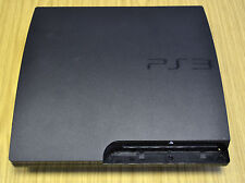 Negro Completo Carcasa Shell Funda para Playstation 3 PS3 Slim Cech - 2003A/B