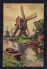 C1950's Art Card - Dutch Windmills