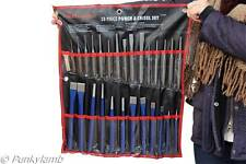 28pc Pin Taper Center Punch & Cold Chisel Set  Gauge Workshop Garage Tool