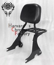 Black Detachable Sissy Bar Backrest with Luggage Rack Sportster XL883 1200 04-16