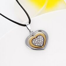 "Hot Mens/Womens Stainless Steel Heart Pendant Necklace Lover Jewelry 20"" Chain"