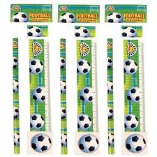 Football Stationery Set 4 Pieces Pencil/Eraser/Sharpener/Ruler/School/Gift/Kids