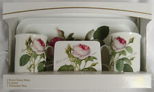 Roy Kirkham Redoute Rose 2 Mug 2 Coaster 1 Tray Gift Set Boxed Traditional Gift