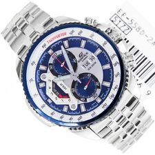 Imported Casio Edifice Men's Wristwatch  EF-558D-2AV CLASSIC BLUE CHRONOGRAPH