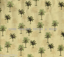Tropical Green Tan Palm Tree Vinyl Contact Paper Shelf Drawer Liner Peel Stick