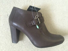 New Women's Bruno Premi Leather Ankle Boots in Brown UK 4 EU 37