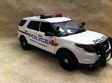 1/18 SCALE NASSAU COUNTY NY PD FORD SUV EXPLORER UT DIECAST NON WORKING LIGHTS