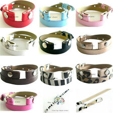 10pcs mixed color  PU leather Wrap Bracelet fit for memory glass watch locket