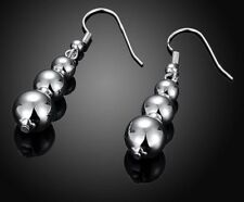 925 STERLING SILVER BALL DROP DANGLE EARRINGS
