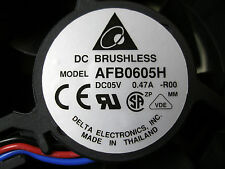 Delta 6025 6CM AFB0605H 5V DC 0.47A 3-wire Case Fan Brushless 60mm x 25mm