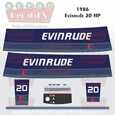 1986 Evinrude 20 HP Outboard Reproduction 9Piece Marine Vinyl Decals Two Stroke