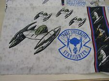 Star Wars Naboo Squadron Twin Fitted & Flat Sheet Pillow Case Set Bedding Fabric