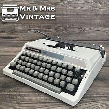 Serviced  Silver Reed 150 Grey Typewriter Working Black Ribbon Vintage