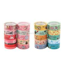10 Rolls Mixed Lovely Cartoon Decor Stickers Tape Adhesive Scrapbooking Sticker