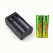 2x 5000mAh 3.7V Li-ion Rechargeable 18650 Battery For Flashlight Torch + Charger