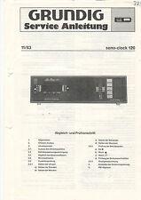 Grundig Service Anleitung Manual sono-clock 120  B1032