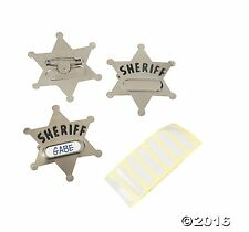 Metal Sheriff Badges - 12 Pack - 2 1/4""