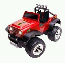 Jeep full radio control Off Road Safari Red Car lights by Blue Hat New in box