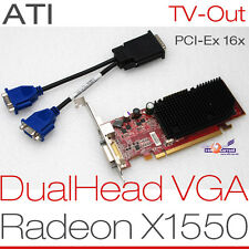 256 MB ATI RADEON X1550 RV516 PCIe DUAL HEAD 2x VGA GRAFIKKARTE WINDOWS 7 8 G12