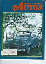SPECIAL INTEREST AUTO -SIA 29, 1962 Nash Metropolitan, 42 Ford Super DeLuxe Conv