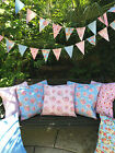 100% WATERPROOF OUTDOOR PVC COATED GARDEN BENCH SEAT CUSHIONS, Shabby chic.