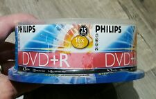 New Philips DVD+R 16x Speed 4.7GB Data 25 Disks