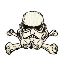Stormtrooper Helmet Crossbones Empire Emblem Star Wars Embroidered Iron On Patch