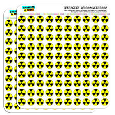"Radioactive Nuclear Warning Symbol 0.5"" Scrapbooking Crafting Stickers"