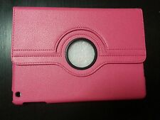 iPad Air 1 Hot Pink Case Cover PU-Leather 360 Rotating Cases