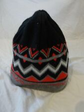 AEROPOSTALE Reversable BEENIE Hat CHEVRON PRINT Pink Black GRAY STRIPED